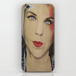 """The Age of the Selfie"" Caroline iPhone Skin"