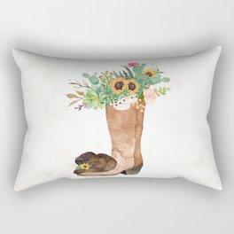 Southwestern Sunflower Rectangular Pillow