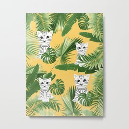 Baby Cat in the Jungle #3 (Kids Collection) #tropical #animal #decor #art #society6 Metal Print