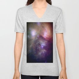 Galaxy : Pleiades Star Cluster NeBula Unisex V-Neck
