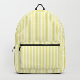 Classic Small Highlighter Yellow Pastel Highlighter French Mattress Ticking Double Stripes Backpack