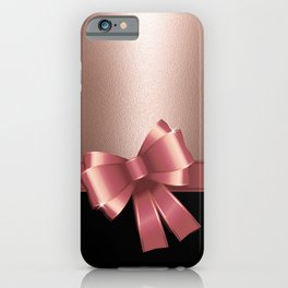 Rose Gold Ribbon iPhone Case