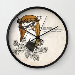 The golden girl Wall Clock