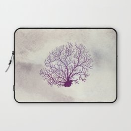 Purple and Ivory Coral Laptop Sleeve
