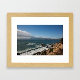 Coast of San Francisco Framed Art Print
