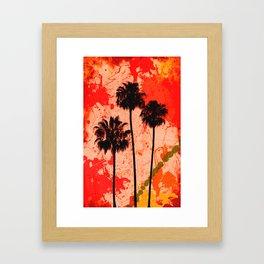 Palm Tree Paint Framed Art Print