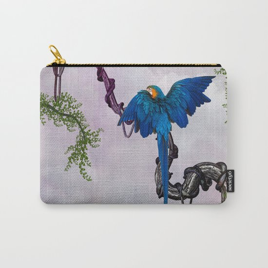 Wonderful blue parrot Carry-All Pouch