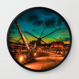 Derry Peace Bridge by Zolita Mykytyn Wall Clock