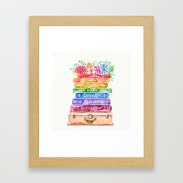 Diverse Books Framed Art Print