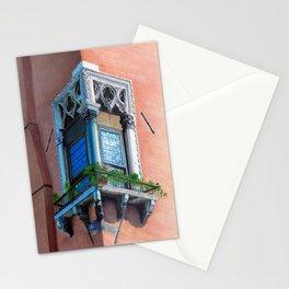 A window in Venezia: La finestra 1 Stationery Cards