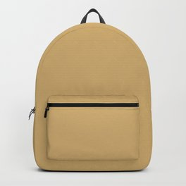 Dark Yellow Brown Solid Color Parable to 2021 Trending Shade Tarnished Trumpet SW 9026 Backpack
