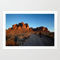 Sunset on the Superstitions Art Print