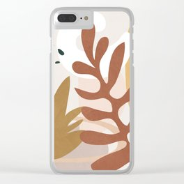 Abstract Plant Life II Clear iPhone Case