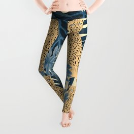 Summer Cheetah Jungle Vibes #1 #tropical #decor #art #society6 Leggings