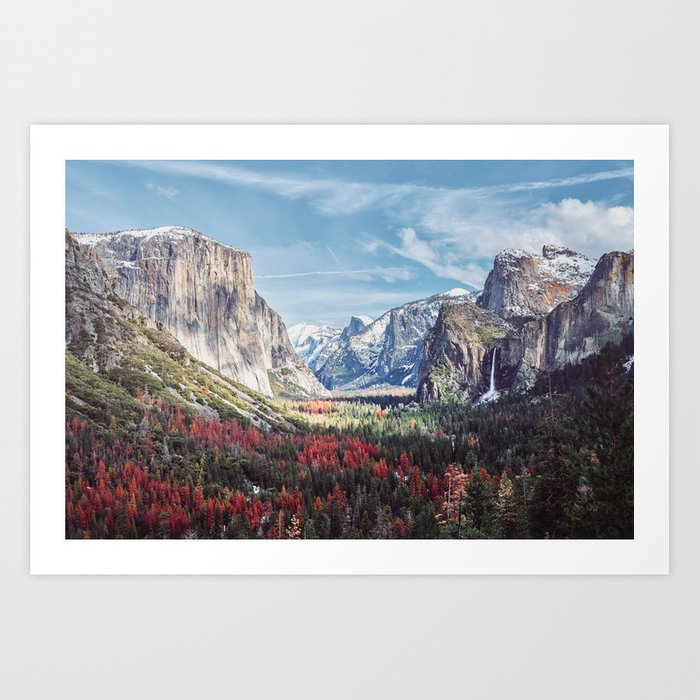 Tunnel View Yosemite Valley Kunstdrucke
