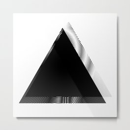 Simple Shapes Triangle Metal Print