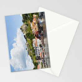 Halden harbour and Fredriksten fortress in Norway Stationery Cards