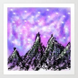 Mountain Luminous Art Print