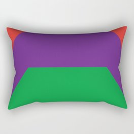 A lot of simplified graphic bridges, all put one on another in a nice colorful design... i hope so.. Rectangular Pillow