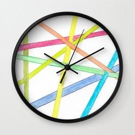 Thank You: Stripes Wall Clock