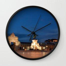 Lisbon Night Wall Clock