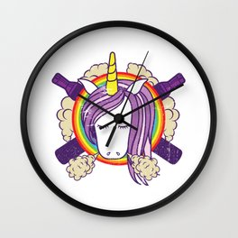 Cloud Chaser - Vaping Unicorn Wall Clock