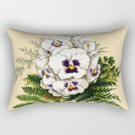 Pansy Easter Egg Rectangular Pillow