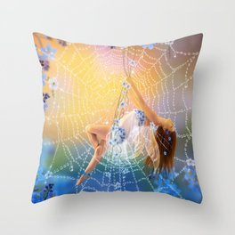 Little Blue  Throw Pillow