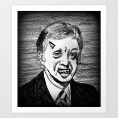 39. Zombie Jimmy Carter  Art Print