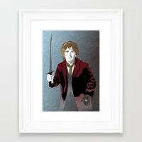 the hobbit Framed Art Prints featuring Hobbit by Digital Sketch