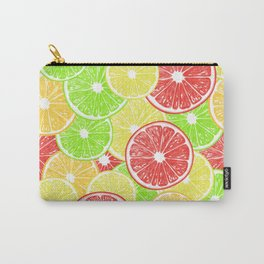 Lemon, orange, grapefruit and lime slices pattern design Carry-All Pouch