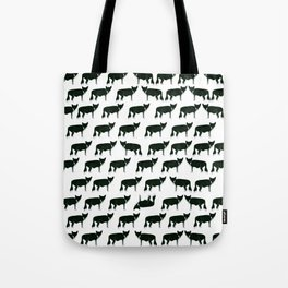 Inky Fox Pattern Tote Bag