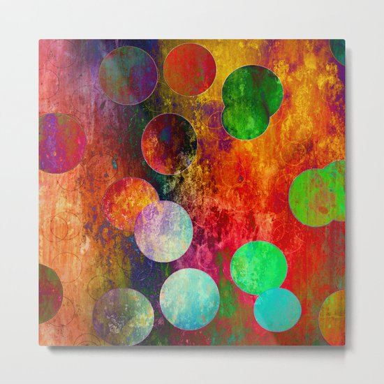Mess of colors Metal Print