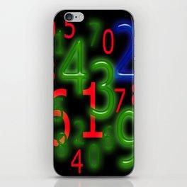 RGB Numbers iPhone Skin