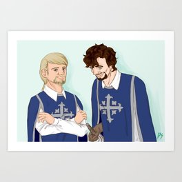 Two Musketeers Art Print