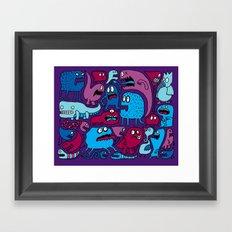 More Monsters Framed Art Print