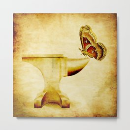 The anvil and the butterfly Metal Print