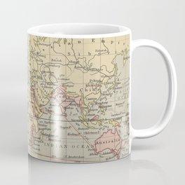 Vintage Map of The World (1914) Coffee Mug