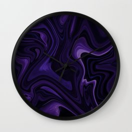 Purple liquefy Pattern Wall Clock