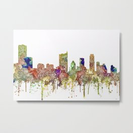 Austin, Texas Skylin SG - Faded Glory Metal Print