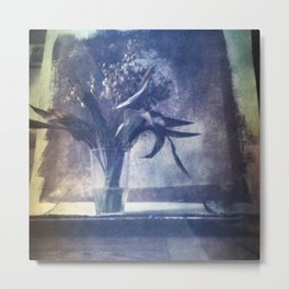 SILL LIFE WITH DEAD LILIES OF THE VALLEY . Film photography. Metal Print