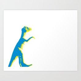 alex the dino Art Print