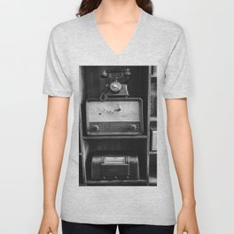 Retro Stand (Black and White) Unisex V-Neck