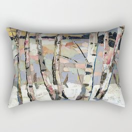 Birches in witnter Rectangular Pillow
