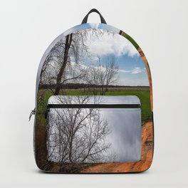 Take Me Home - Old Country Road in Oklahoma Backpack