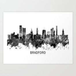 Bradford England Skyline BW Art Print