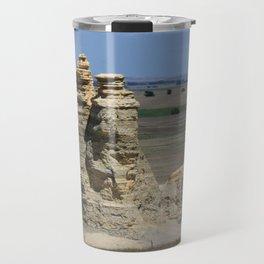 Castle Rock with blue sky Travel Mug