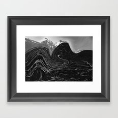 Dark mountain Framed Art Print