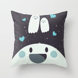 Loving Ghosts Throw Pillow