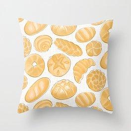 Breads - Bg Light Jute Throw Pillow